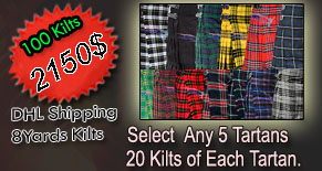 BUY 100 KILTS PLAN 2500$ INCLUDED SHIPPING COST AND VAT/DUTY