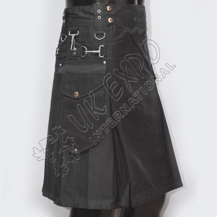 Black Utilty Kilt