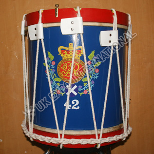 42nd British Drum Blue and Red