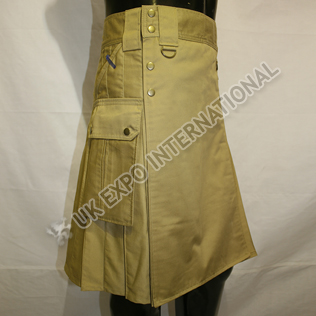 4 Pockets EXE MEN Utility Sports Casual Pocket Kilt