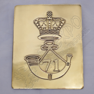 71st Brass Chest Plate Buckle and Crown