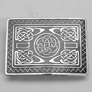 Antique Celtic Black Color filled and Dull Finish Buckle