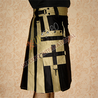 Black and Khaki Hybrid Two-Tone Utility Kilts