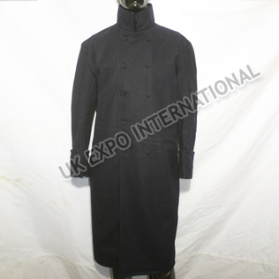 Black Color Great Coat with Double Brest