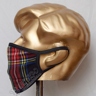 Black Stewart Tartan Scottish Style Mask
