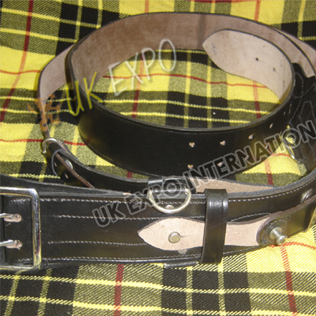 Black with Silver Parts Sam Browne belt