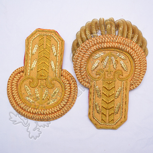 Brass Bullion Shoulders/Epaulette Pair Bullion Frings