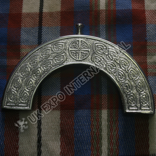 Brass chromed round Celtic knot cantle