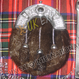 Brwon Seal Skin With Celtic Cantle