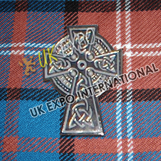 Celtic Cross Metal Badges with black