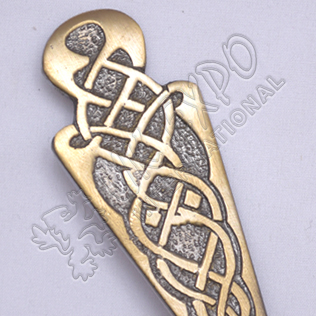 Celtic Design Brass Antique Kilt Pin