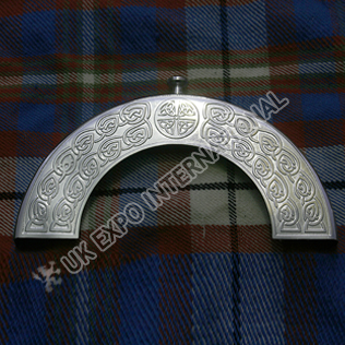 Stainless Steel Celtic knot cantle