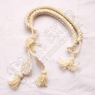 Cream color Grenadier Cord in Available in Wool Cotton and Silk