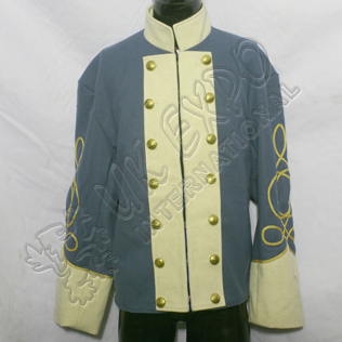 CS Staff Officers Double Breasted Shell Jacket civil war blue color