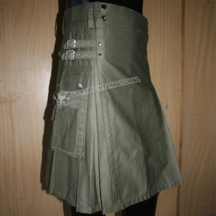 Dark Olive Utility Kilts Heavy canvas