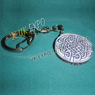 Eternity Knot Double Side Printed Key Chian