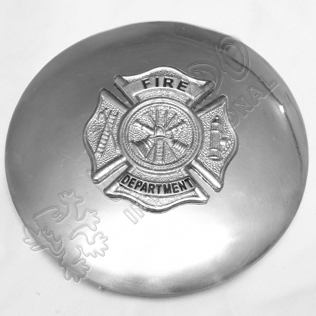 Fire Department Plaid Brooch