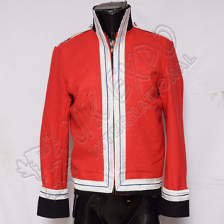 French Officer Coat with Blue Line Silver coat and