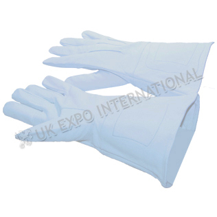 Gentle Glove with White Soft Leather