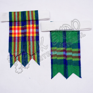 Glasgow Commonwealth Games Tartan Kilt Hose Flashes