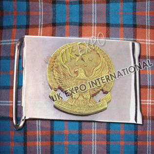 Gold Metal Badge with SS Buckle
