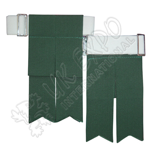 green Color Garter Flashes With Adjustable Buckle
