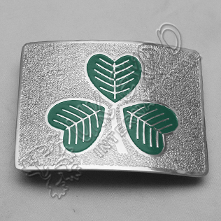 Green Irish Shamrock Colored Buckle