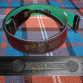 Kilt Belt Embossed Green Backing
