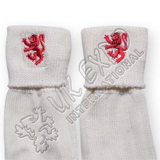 Lampart Lion Embroidary on Kilt Socks