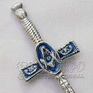 Masonic Kilts Pin with Blue Color filled