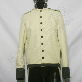 Napoleonic US Coat Main Body White wool Black Collar