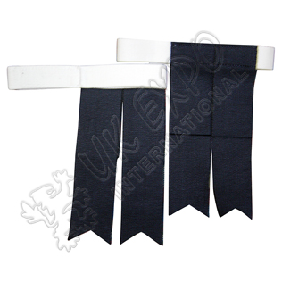 Navy Blue Color Kilt Flashes