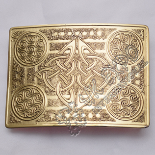 Brass Polish Celtic Round Buckle