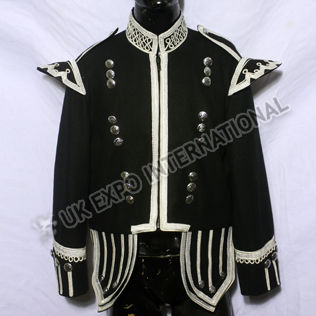 Piper Doublet Black with Silver Braiding