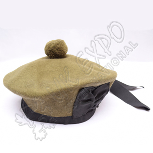 Plain WW1 Canadian Khaki Balmoral Hat without dicing and Khaki