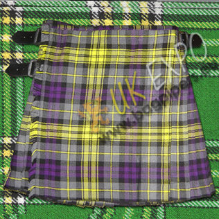 Purple yellow color Tartan Kilt