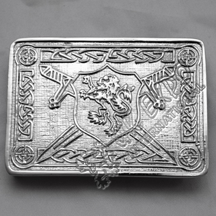 Rampart lion Shield Buckle with Celtic Knot work