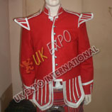 Red Blazer and Silver Braid with Scottish Thistle Buttons