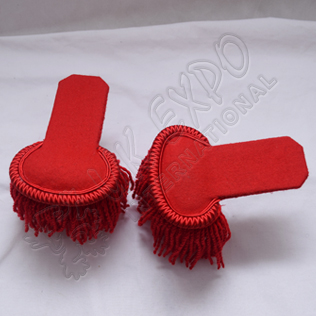 Red Shoulder Epaulettes with Fringe Marching Band Epaulette