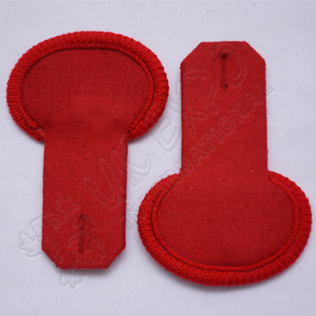 Red Unfinished Shoulder/Epaulette