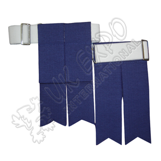 Royal Blue Color Garter Flashes With Adjustable Buckle