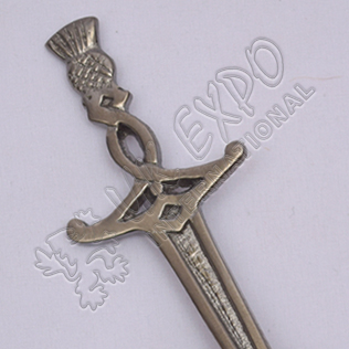 Scotland Sword Shiny Antique Kilt pin