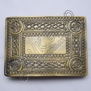 Scottish Celtic Design Bronze Kilt Buckle