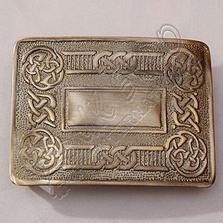 Scottish Celtic Design Kilt Buckle