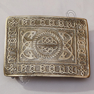 Scottish Celtic Design Shiny Antique Buckle