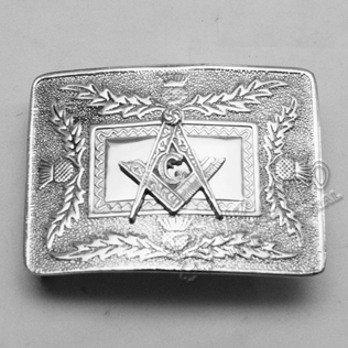 Scottish flower Buckle with Masonic Badge