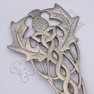 Scottish Flower Primium Celtic Shiny Antique Kilt Pin
