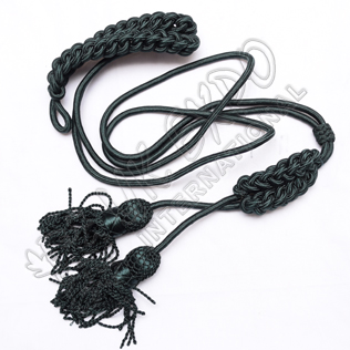 Silk Dark Green Pipe Cord