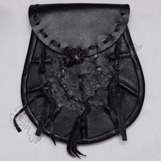 Sporran Bag with Three tessels and Celtic Hand Made Button