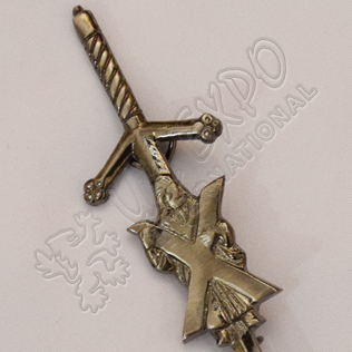 St Andrews Shiny Antique Kilt Pin